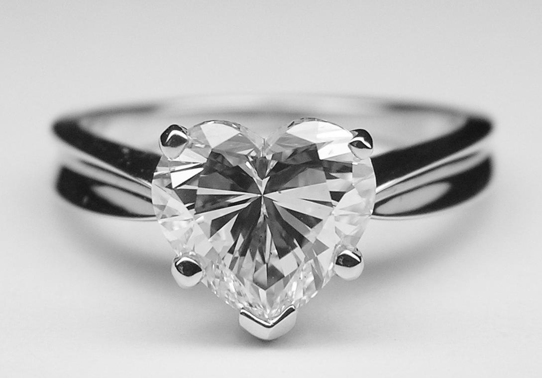 Heart Shape Diamond Solitaire