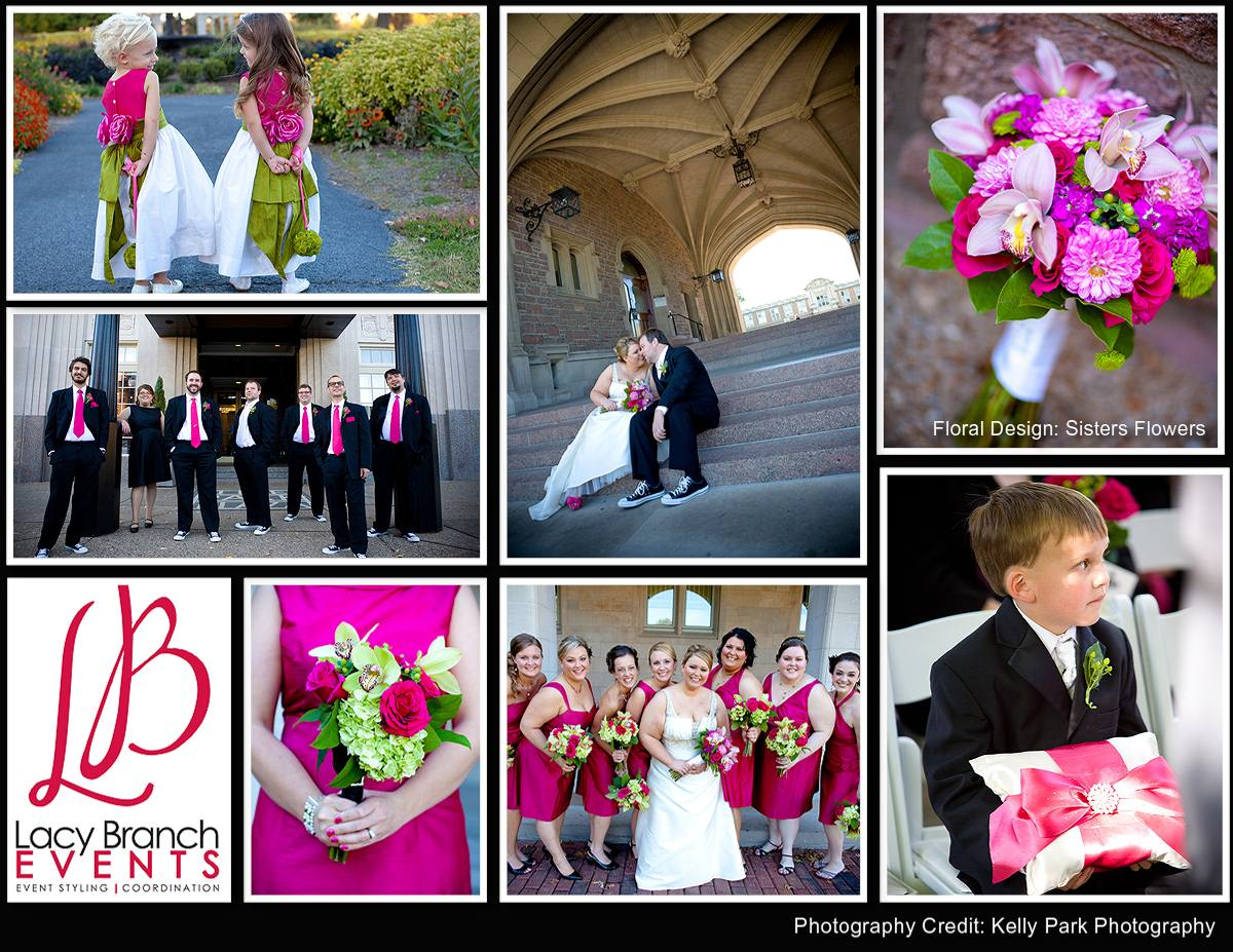 Hot Pink, and Green Wedding