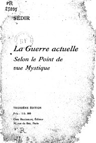 Cover of Paul Sedir's Book La Guerre Actuelle (1916,in French)