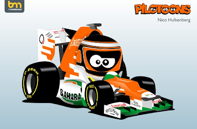 Нико Хюлькенберг Force India VJM05 pilotoons 2012