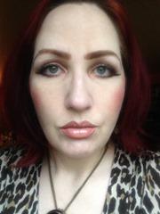 wearing BUXOM Lip Polish in Sandy