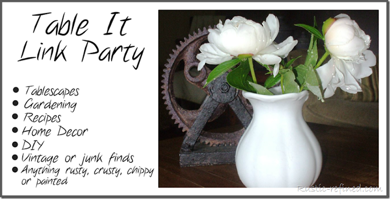 Home Decor, Recipe, Tablescape  Link up Party for bloggers to share design ideas and creativity.