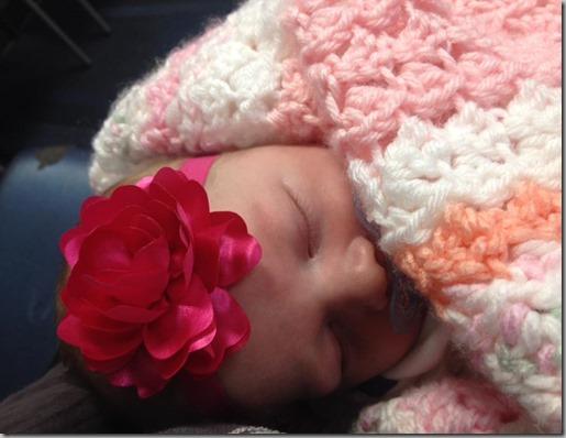 Amelia with Blanket