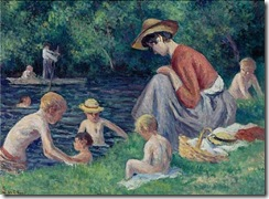 Maximilien Luce - The bathing in the Cure