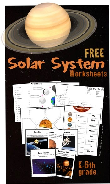 Printables 6th Grade Homeschool Worksheets solar system worksheets