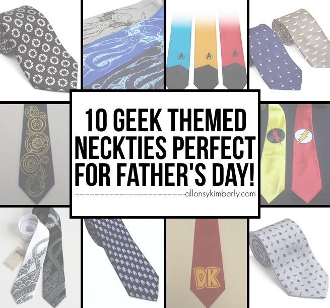 10 Geek Themed Neckties Perfect for Father's Day! (FanBOY Fashions ed. 34) | allonsykimberly.com