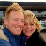 saying goodbye to my mom at the airport in IJmuiden, Noord Holland, Netherlands