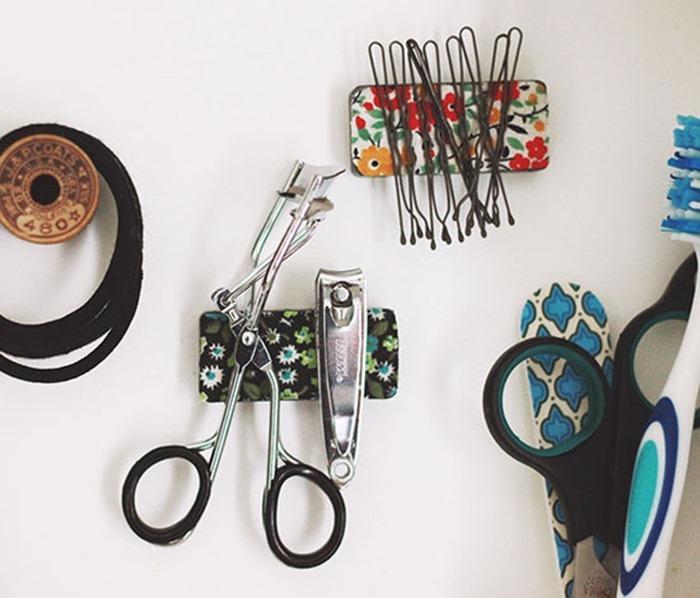 Magnetic-Strip-for-Bobby-Pins-DIY-Bathroom-Organization-Ideas