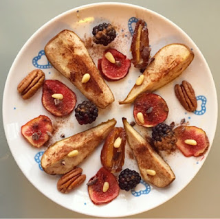 Caramelized cinnamon pears and figs