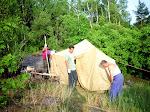 Операторская палатка, RV1AW и RZ1AZ.