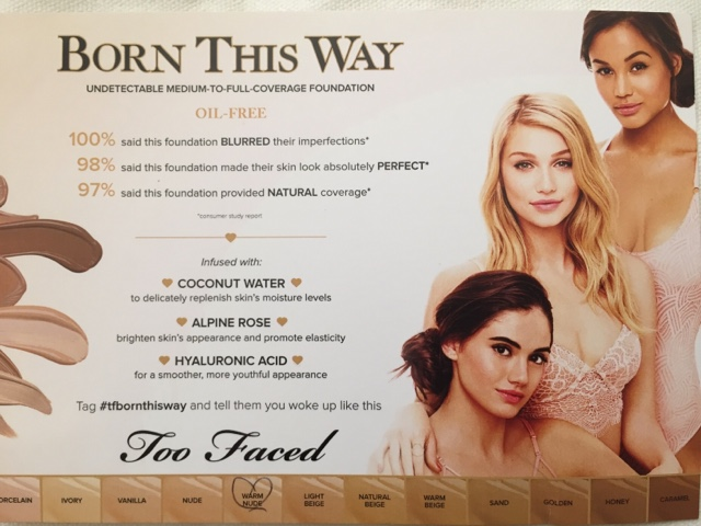 First Impression Review Too Faced Born This Way Liquid Foundation
