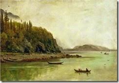 1g Albert Bierstadt (German-born American artist, 1830-1902)   Indians Fishing