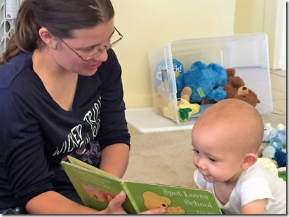 Mom & Ryder reading