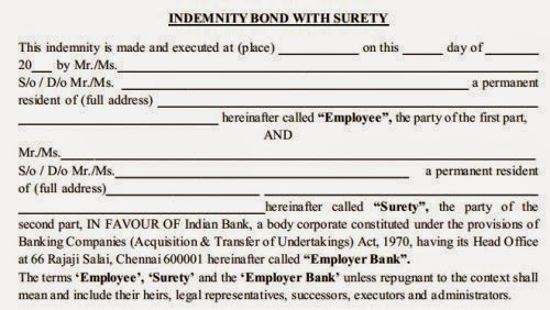 service-bond-agreement-in-banks,how much amount to pay for banks,bond amount in banks,service bond format