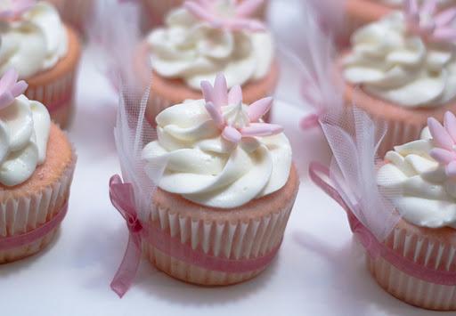 A bridal shower cupcake.