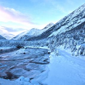 Ice river by Yvonne Reinholdtsen - Landscapes Mountains & Hills ( winter, snow, vesterålen, river, norway,  )