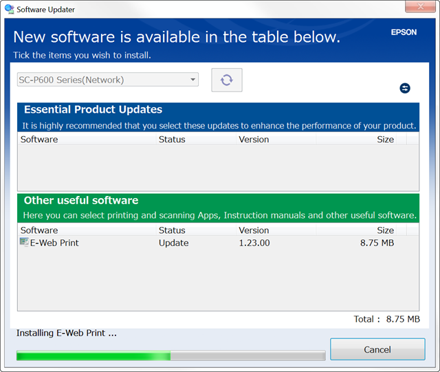 Software Updater keeps you up to date with no hassle