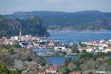 Uitzicht vanaf het hotel op het plaatsje Kragero.