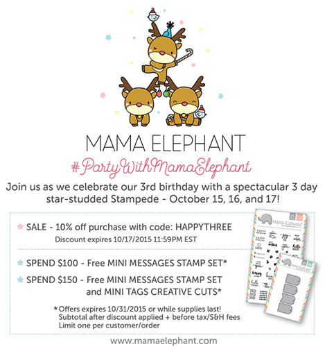 Mama Elephant 3d Birthday Graphic