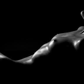 by Brian Sadowski - Nudes & Boudoir Artistic Nude ( blackandwhite, sexy, the beauty of women, monochrome, nude, bodyscape )