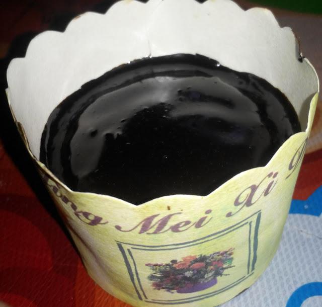 Bekas kek coklat moist