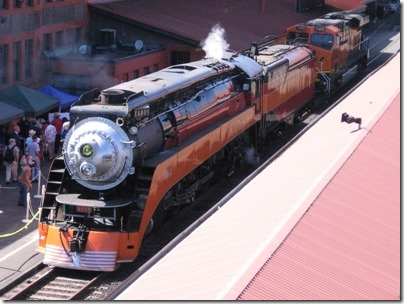 IMG_2863 Southern Pacific Daylight GS-4 4-8-4 #4449 at Union Station in Portland, Oregon on May 8, 2010