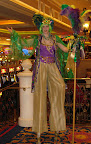 Funky Mardi Gras on stilts