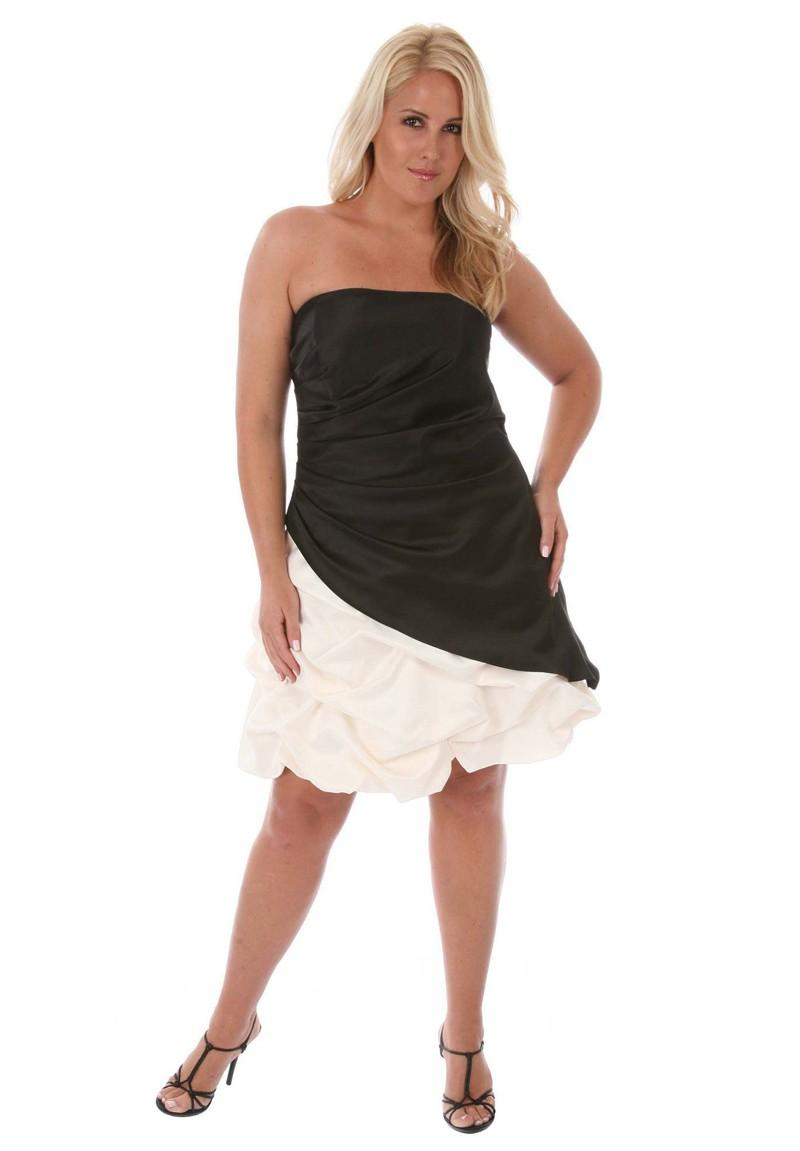 black and ivory strapless