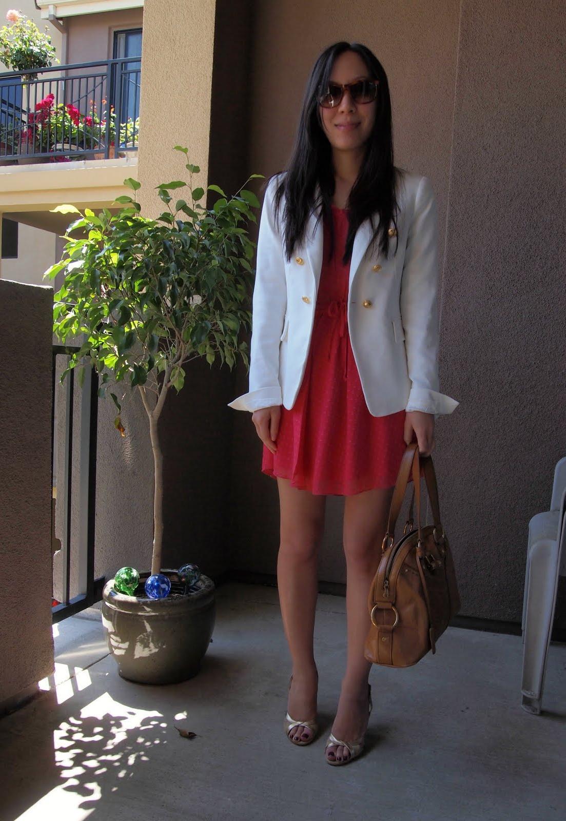 Aritzia dress, Zara blazer,