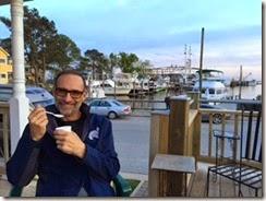 Jon with ice cream Oriental