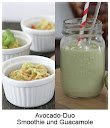 Avocado-Duo Smoothie und Guacamole