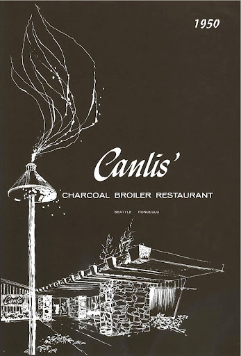 Canlis debut menu: 1950