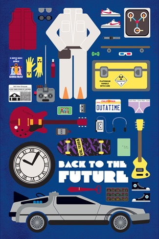 Movie Parts Series Back to the Future by Emma Butler