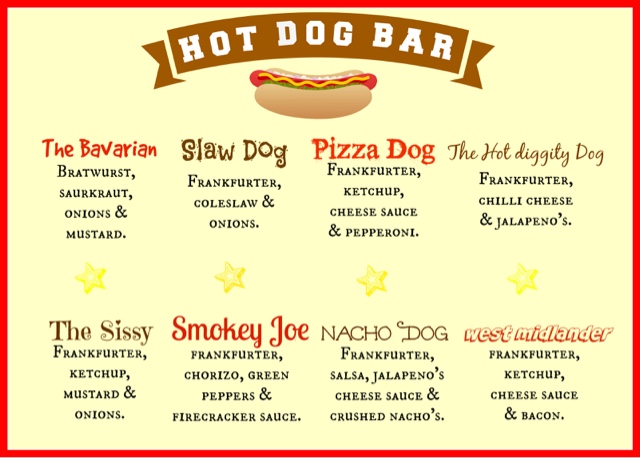 Hot Dog Toppings For Party
