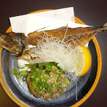 raw horse mackerel, with the rest fried in Tokyo, Tokyo, Japan