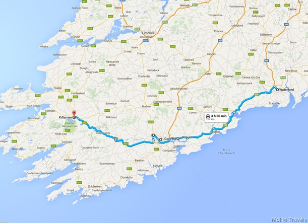 Waterford to Killarney