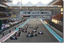 La partenza del gran premio di Abu Dhabi 2015