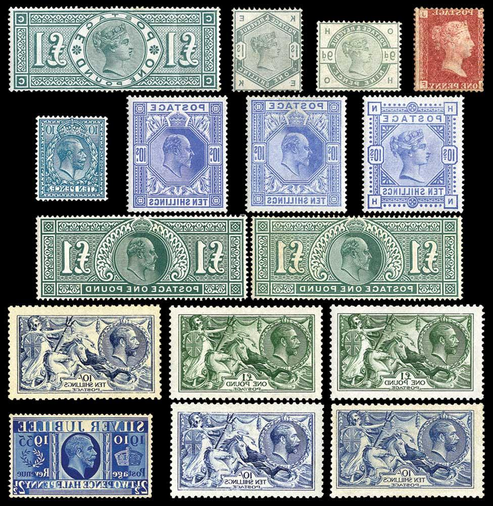 1864-79 1d. plates 71 to 225
