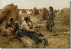 Leon-Augustin-Lhermitte-xx-Wheatfield-Noonday-Rest-1886
