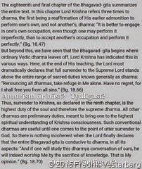 Amoristerna möte 150515 Bhagavad Gita