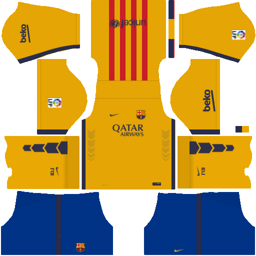 Kits y Logo | Barcelona 2016-2017 | Dream League Soccer 2016 - YouTube