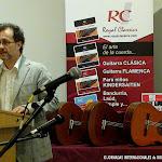 José Luis Ruiz del Puerto presentó al Comisario de la Exposición Artística, Juan Grecos.