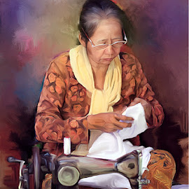 Mother by Suyono Kopral - Painting All Painting ( nature, people, painting )
