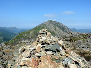 Haystacks - the southern cairn with High Crag. Ennerdale can be seen on the left.