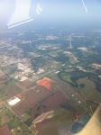 Flight to Nashville over Muscle Shoals, AL