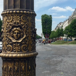paris lamp post