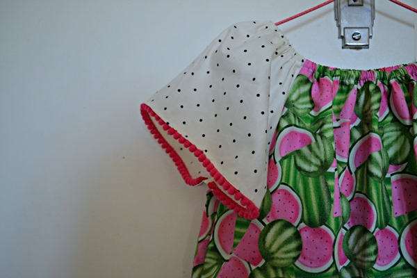 Watermelon dress close up 2