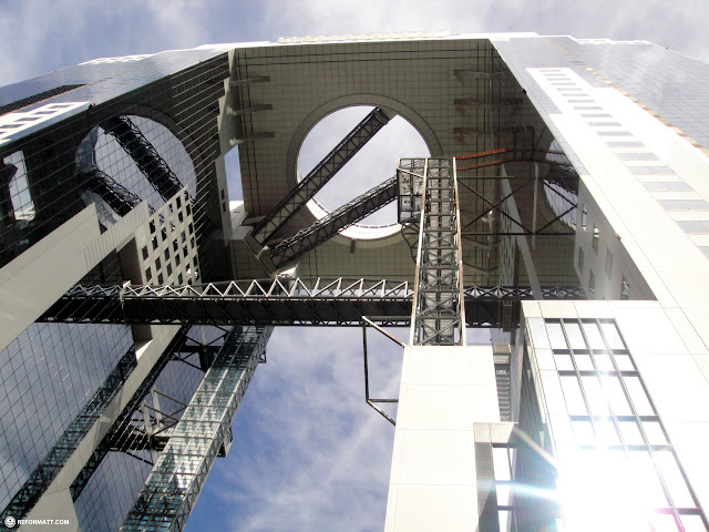 the mind-boggling Umeda Sky Building in Osaka, Osaka, Japan