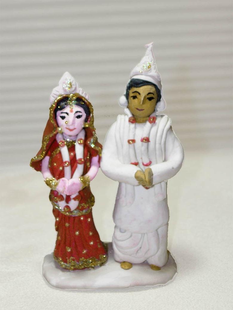 Bengali wedding cake topper