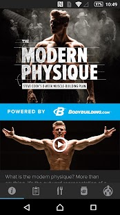 Steve Cook Modern Physique Fitness app screenshot for Android